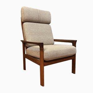 Danish Teak & Wool Lounge Chair by Sven Ellekaer for Komfort, 1960s