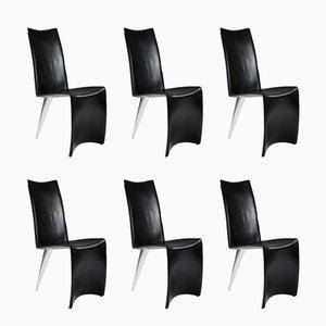 Esszimmerstühle aus der J Serie Lang von Philippe Starck für Aleph, 1980er, 6er Set