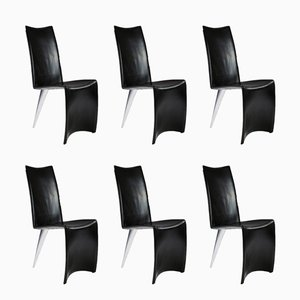 J Serie Lang Dining Chairs by Philippe Starck for Aleph, 1980s, Set of 6