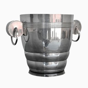 Art Deco Silver Plated Ice Bucket, 1930s