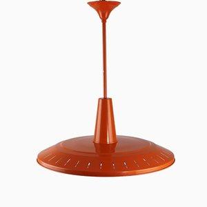 Lampada da soffitto Mid-Century arancione di Philips