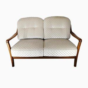 Mid-Century German Beech 2-Seater Sofa, 1960s