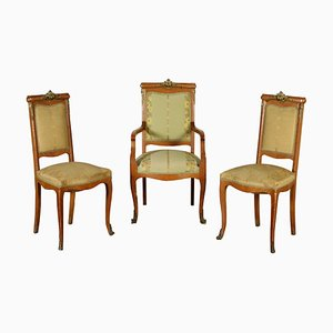 Chaises Antiques, Italie, Set de 3