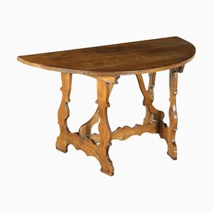Antique Italian Walnut Console Table