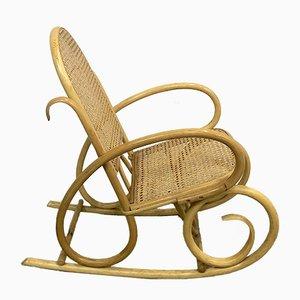 Chaise d'Enfant Mid-Century en Bois et en Osier, 1960s