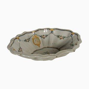 Centro de mesa antiguo de cerámica de Majolica, década de 1700