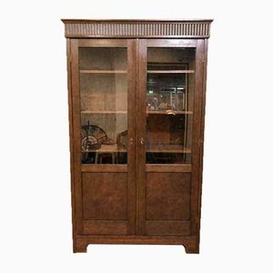 Antique Glass and Wood Display Cabinet