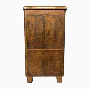 Mueble para el equipo de música Art Déco antiguo de madera