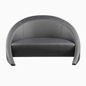 Petit Canapé en Cuir Noir Nuvola de VGnewtrend
