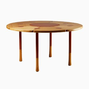 Modernist Danish Beech and Metal Dining Table by Richard Nissen, 1960s
