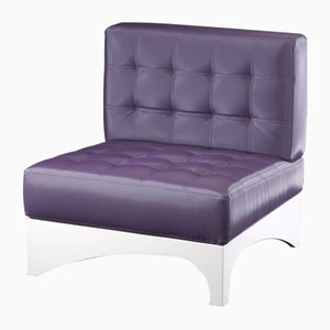 Small Plum Colour Ginevra Armchair from VGnewtrend