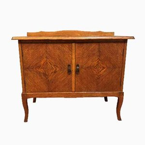 Antique Brass and Wood Sideboard