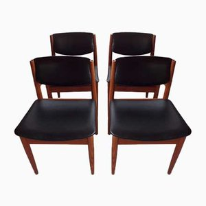 Model 197 Dining Chairs by Finn Juhl for France & Søn, 1960s, Set of 4