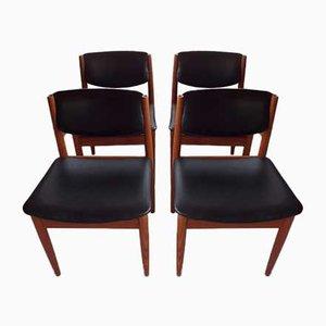 Modell 197 Esszimmerstühle von Finn Juhl für France & Søn, 1960er, 4er Set