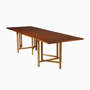 Beech & Teak Maria Flap Dining Table by Bruno Mathsson, 1960s