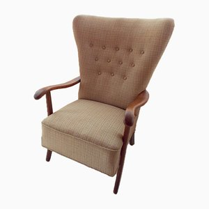 Danish Wingback Armchair, 1940s