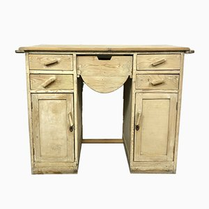 Vintage Wooden Console Table, 1930s