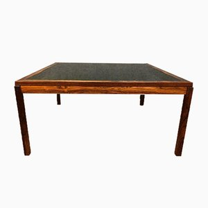 Scandinavian Modern Rosewood and Smoked Glass Coffee Table, 1960s