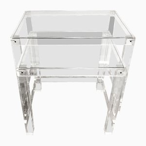 Glass and Methacrylate Nesting Tables, 1960s