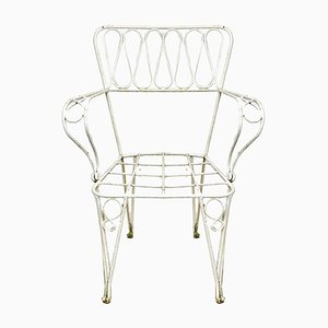 Mid-Century French Iron Side Chairs, 1950s, Set of 2