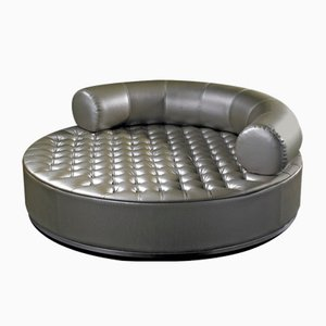 Round Breola Pouf with Capitonné Backrest from VGnewtrend