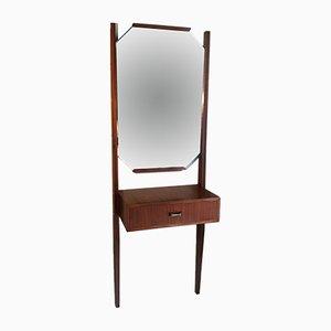 Coiffeuse Murale Vintage avec Miroir, 1960s