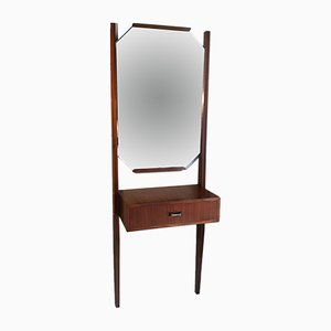 Vintage Wall Dressing Table with Mirror, 1960s