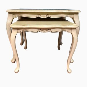 Mesa de centro Chippendale antigua de madera