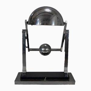 Lampe de Bureau Satellite Moderniste par Jacques Adnet, 1920s