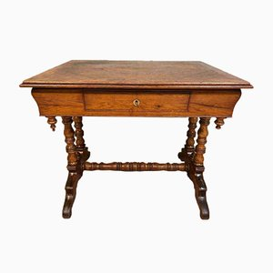 Mid-Century Schreibtisch aus Holz im Jugendstil, 1960er