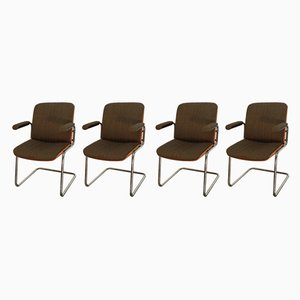Mid-Century German Armchairs by Karl Dittert for Martin Stoll, Set of 4