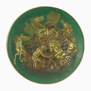 Assiette en Bronze avec Relief de Chevaux Apollo par Max Le Verrier, 1930s