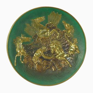 Bronze Plate with Apollo Horses Relief by Max Le Verrier, 1930s