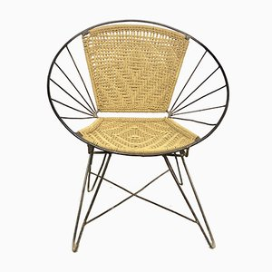 Mid-Century Iron and Rope Chair, 1950s