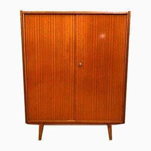 Mid-Century Wooden Linen Wardrobe, 1960s
