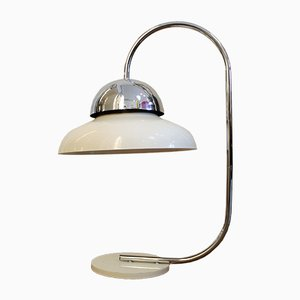 Vintage Aluminum and Chrome Table Lamp, 1960s