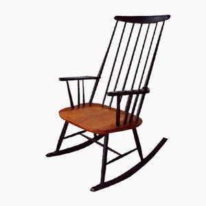 Sedia a dondolo in faggio di Roland Rainer, anni '50