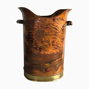 Italian Copper & Brass Umbrella Stand, 1970s