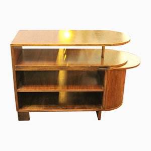 Vintage Art Deco French Wooden Bar Cabinet, 1930s
