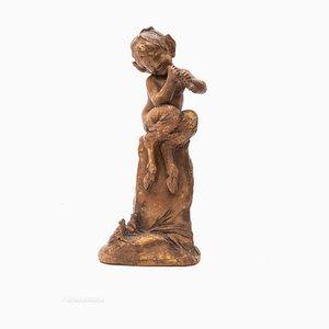 Escultura francesa antigua de cerámica hecha a mano de Cohill