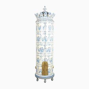 Armario en forma de estufa sueco vintage con azulejos, años 30