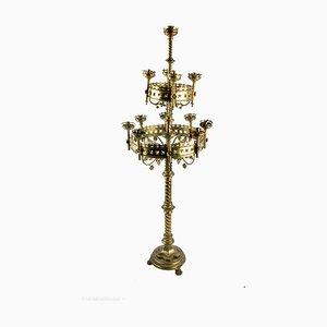 Candélabre d'Église Vintage en Bronze, 1920s