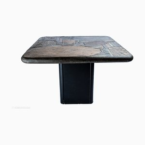 German Natural Stone Brutalist Coffee Table by Paul Kingma, 1987