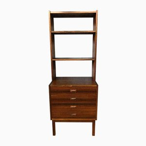 Mid-Century Wooden Cabinet with Bookcase, 1960s
