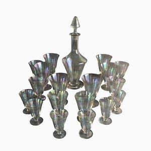 Austrian Iridescent Glass Stemware Set from Lobmayer, 1920s