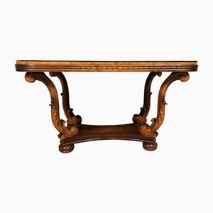 Tavolino da caffè vintage in legno, anni '20