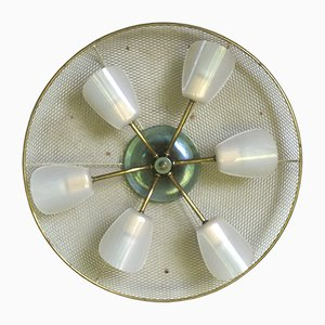 Mid-Century German Brass and Acrylic Sconce, 1950s
