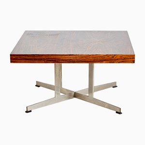 Table Basse Scandinave en Chrome et Palissandre, 1970s