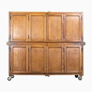 Mid-Century Industrial Beech Bakery Dough Cabinet, 1950s