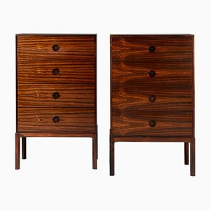 Danish Model 385 Rosewood Dressers by Kai Kristiansen for Aksel Kjersgaard, 1960s, Set of 2
